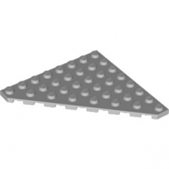 LEGO 4268343 PLATE 8X8 ANGLE 45 DEG - MEDIUM STONE GREY
