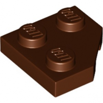 LEGO 6218366 PLATE 2X2, CORNER, 45 DEG. - REDDISH BROWN
