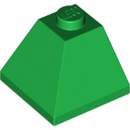 LEGO 6234157 CORNER BRIQUE 2X2/45° OUTSIDE - DARK GREEN