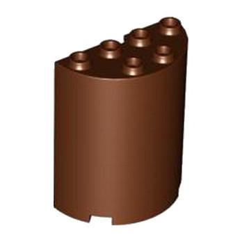 LEGO 4271750 CLOISON ARRONDI 2X4X4 - REDDISH BROWN