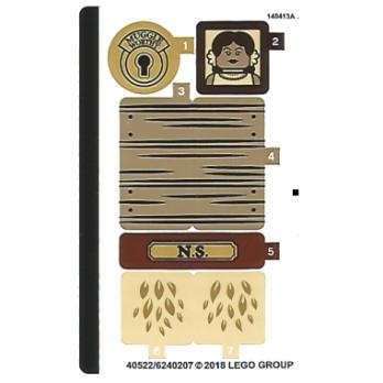 Stickers / Autocollant Lego Harry Potter 75952