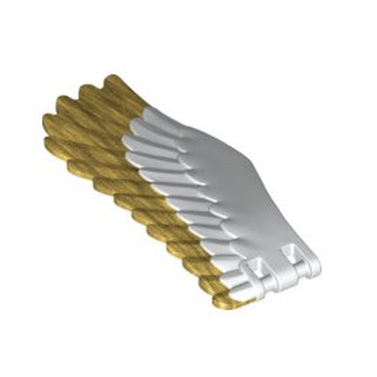 LEGO 6239767 AILE DROITE - BLANC / WARM GOLD