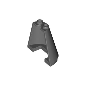 LEGO 6235153 1/2 CONE 2X4X3 - DARK STONE GREY lego-6235153-12-cone-2x4x3-dark-stone-grey ici :