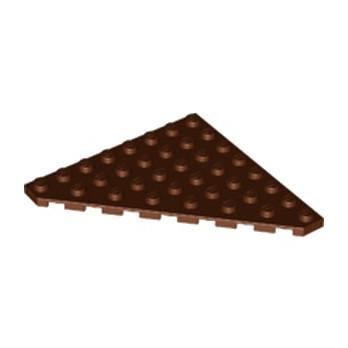 LEGO 6234270 PLATE 8X8 ANGLE 45 DEG - REDDISH BROWN