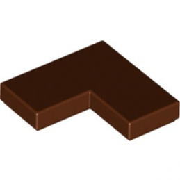LEGO 6221608 PLATE LISSE ANGLE 1X2X2 - REDDISH BROWN