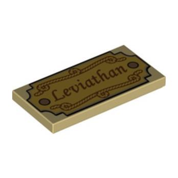 LEGO 6228904 PLAQUE IMPRIME 2X4 - LEVIATHAN