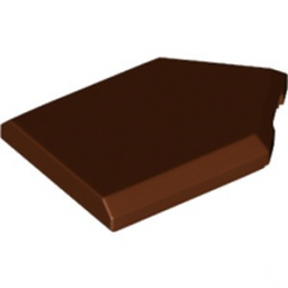 LEGO 6245259 FLAT TILE2X3 W/ANGLE  - REDDISH BROWN