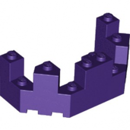 LEGO 6169694 BALCON / TOURELLE 4X8X2 - MEDIUM LILAC