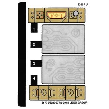 Stickers / Autocollant Lego Nexo Knight - 72001