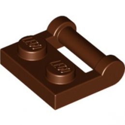 LEGO 6236915 PLATE 1X2 W. STICK 3.18 - REDDISH BROWN