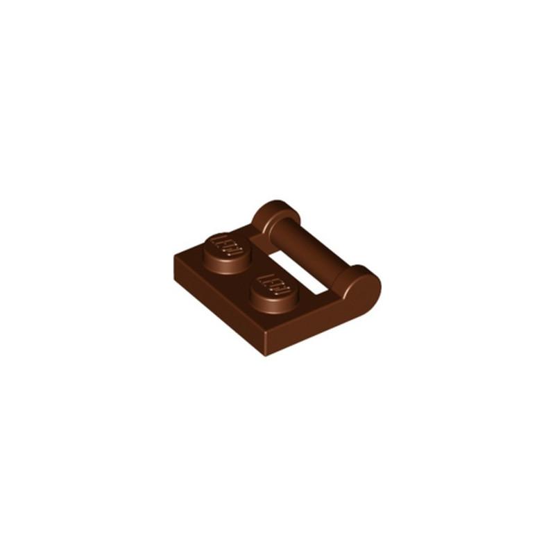 LEGO 6236915 PLATE 1X2 W. STICK 3.18 - REDDISH BROWN