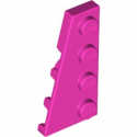 LEGO 6194853 PLATE 2X4 ANGLE GAUCHE - ROSE