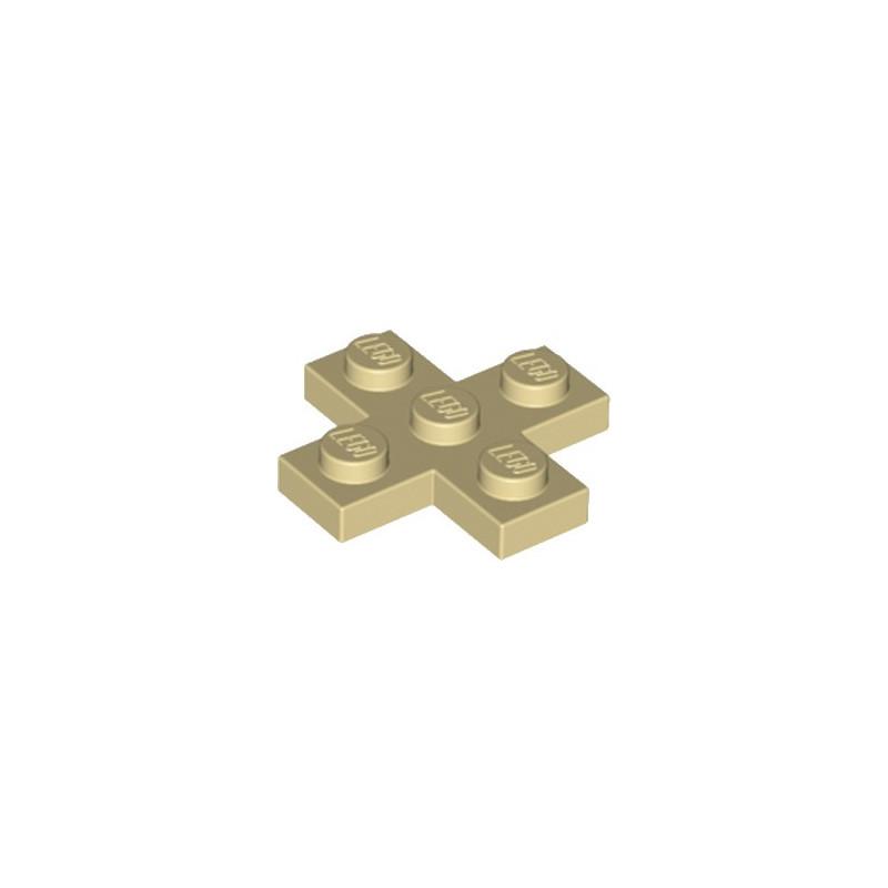 LEGO 6061575 CROIX PLATE 3x3  - BEIGE
