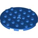 LEGO 6096711 PLATE RONDE 6X6 - BLEU