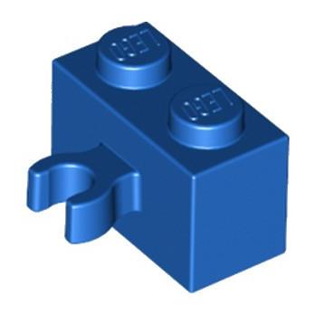 LEGO 6127744 BRIQUE 1X2 W. HORIZONTAL HOLDER - BLEU