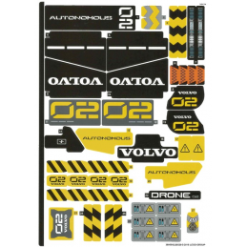Stickers / Autocollant Lego Technic 42081