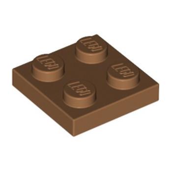 LEGO 6056383 PLATE 2X2 - MEDIUM NOUGAT