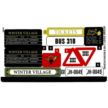 Stickers / Autocollant CREATOR 10259