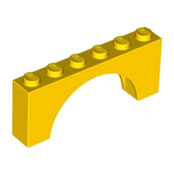 LEGO 6192924 BRIQUE W. INSIDE BOW 1X6X2 - JAUNE