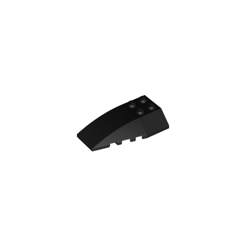 LEGO 6123844 BRIQUE 4X6 W/BOW/ANGLE - NOIR