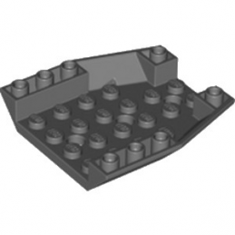 LEGO 6210720 ROOF TILE 6X6X1, INV. DEG. 45/18 - DARK STONE GREY