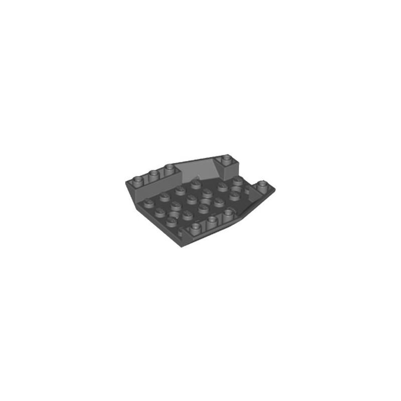 LEGO 6210720 ROOF TILE 6X6X1, INV. DEG. 45/18 - DARK STONE GREY
