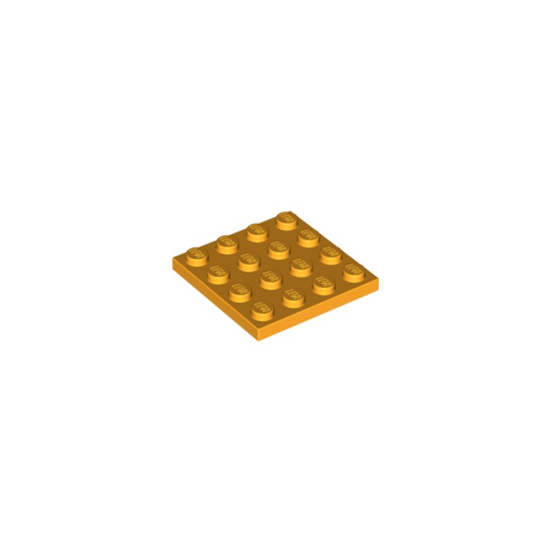LEGO 6093272 PLATE 4X4 - FLAME YELLOWISH ORANGE