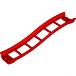 LEGO 6229098 RAIL 2X16X3, BOW, INV., W/ 3.2 SHAFT - ROUGE