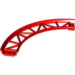 LEGO 6229115 RAIL COURBE 13X13, 1/4 CIRCLE, W/ 3.2 SHAFT  - ROUGE
