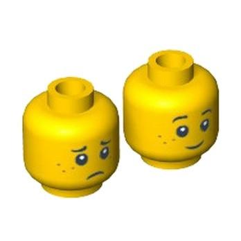 LEGO 6039464 TÊTE ENFANT ( 2 FACES )