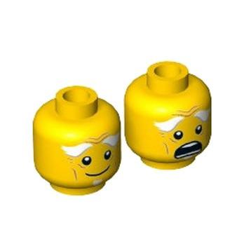 LEGO 6197076 TÊTE HOMME ( 2 FACES )
