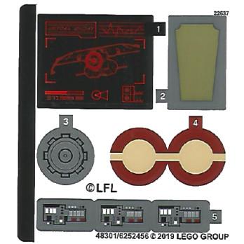 Stickers / Autocollant Lego Star wars 75133