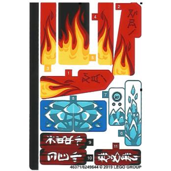 Stickers / Autocollant Lego Ninjago 70667