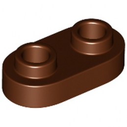 LEGO 6248944 PLATE 1X2, ROND - REDDISH BROWN