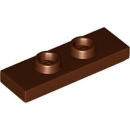 LEGO 6251470 PLATE 1X3 W/ 2 KNOBS - REDDISH BROWN lego-6251470-plate-1x3-w-2-knobs-reddish-brown ici :