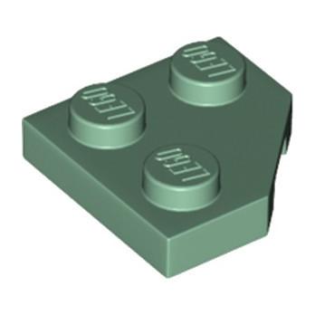 LEGO 6233984 PLATE 2X2, CORNER, 45 DEG. - SAND GREEN
