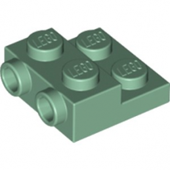 LEGO 6223171 PLATE 2X2X23 W. 2. HOR. KNOB - SAND GREEN