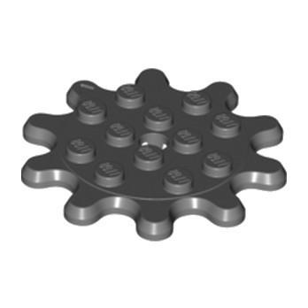 LEGO 6252371 ROUE ENGRENAGE 4X4, Z10 - DARKSTONE GREY