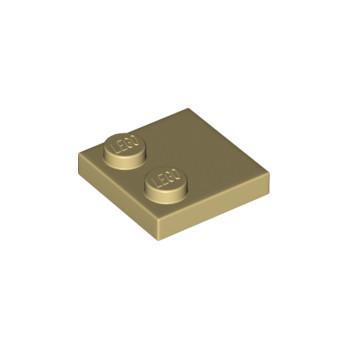 LEGO 6221467 PLATE 2X2 - BEIGE lego-6221467-plate-2x2-beige ici :