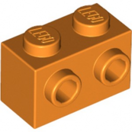 LEGO 6223454 BRIQUE 1X2 W. 2 KNOBS - ORANGE