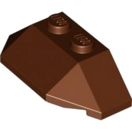 LEGO 4626666 ROOF TILE 4X2 W. ANGL./SL.BOT. - REDDISH BROWN