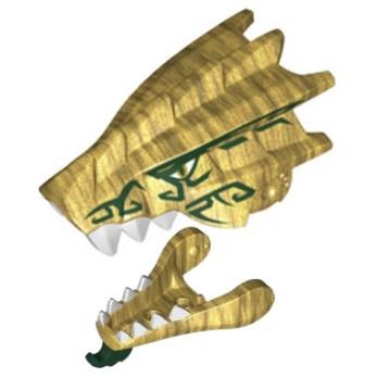 LEGO 6250578 + 6250547 TETE DRAGON - WARM GOLD lego-6250578-6250547-tete-dragon-warm-gold ici :