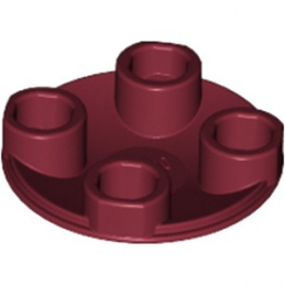 LEGO 6192839 ROND LISSE 2X2 INV  - NEW DARK RED