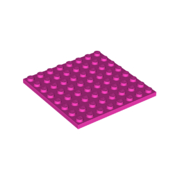 LEGO 6210673 PLATE 8X8 - ROSE