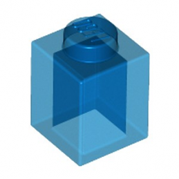LEGO 4119350 BRIQUE 1X1 - BLEU FONCE TRANSPARENT