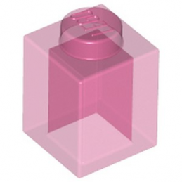 LEGO 6097448 BRIQUE 1X1 - ROSE TRANSPARENT
