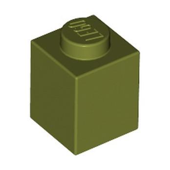 LEGO 6058242 BRIQUE 1X1 - OLIVE GREEN