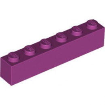 LEGO 6056382 BRIQUE 1X6 - MAGENTA