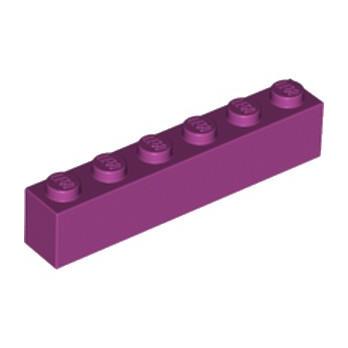 LEGO 6056382 BRIQUE 1X6 - MAGENTA lego-6056382-brique-1x6-magenta ici :