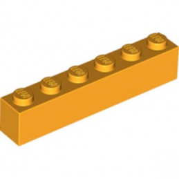LEGO 6186542 BRIQUE 1X6 - FLAME YELLOWISH ORANGE